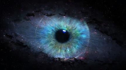 Fototapeta open eye in space