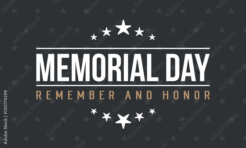 Fototapety, obrazy: Memorial day background vector art
