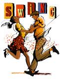 Kobieta i mężczyzna tańczy huśtawka - 150790642