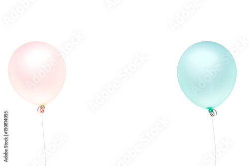 Deurstickers Ballon balloon color pastel for birthday and party