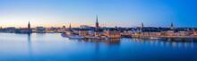 Panorama View Of Stockholm Sky...