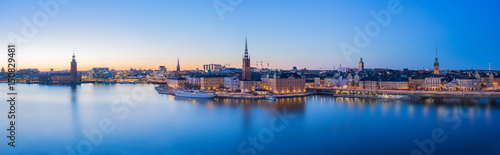 Panorama view of Stockholm skyline in Stockholm city, Sweden Canvas Print