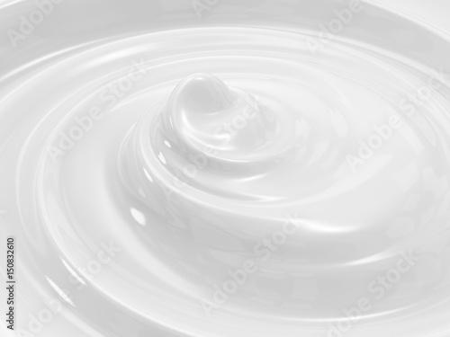 Fototapeta  swirl cosmetic cream