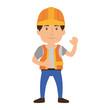 Worker man cartoon icon vector illustration graphic design