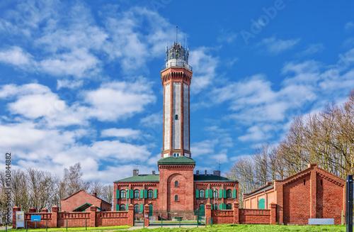 Foto auf Gartenposter Leuchtturm Leuchtturm Niechorze Westpommern Ostseeküste
