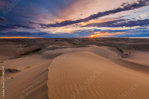 Fototapeta Beautiful views of the desert landscape. Gobi Desert. Mongolia