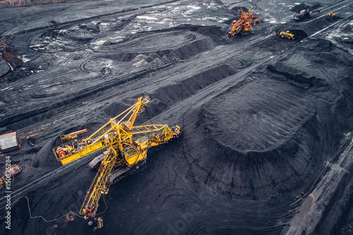 Obraz na plátně Coal mining at an open pit