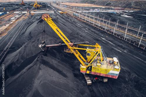 Cuadros en Lienzo Coal mining at an open pit
