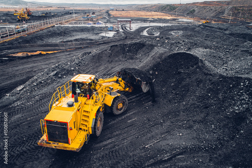 Photo Coal mining at an open pit