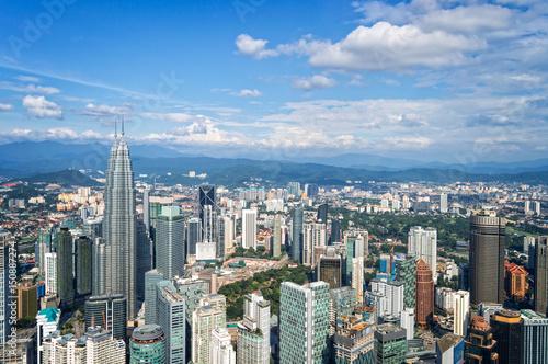 Fotografia, Obraz  Aerial view of Kuala Lumpur skyline, Malaysia