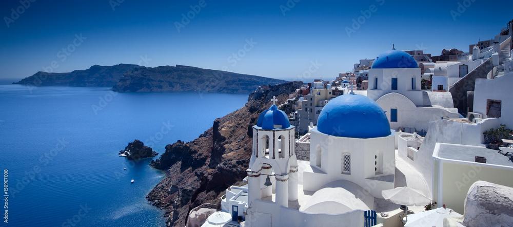 Fototapety, obrazy: Santorini Blue