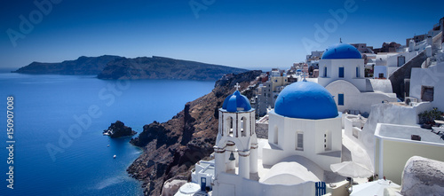 Cadres-photo bureau Santorini Santorini Blue