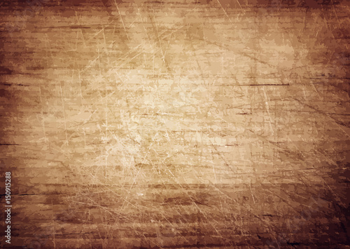 Tuinposter Hout Dark brown wooden wall, table, floor surface. Aged board. Vector wood texture.