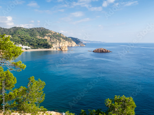 Photo  view of the coast from the medieval fortress of Villa Vella, Tos