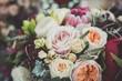 Leinwanddruck Bild - Colored flowers in a bouquet