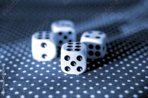 Fotografie, Obraz  Rolling the dice concept for business risk, chance, good luck or gambling