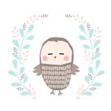 sowa ilustracja - 150934456