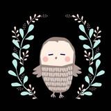 sowa ilustracja - 150934473