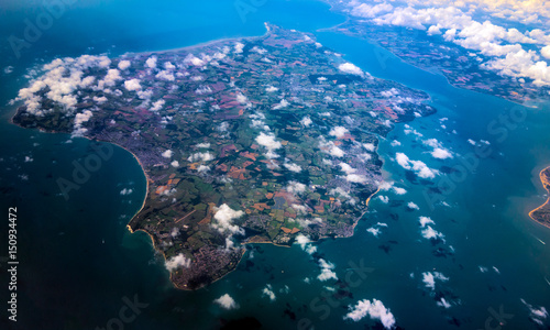 Fotografia isle of wight island from above