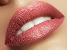 Close-up Beautiful Female Lips...