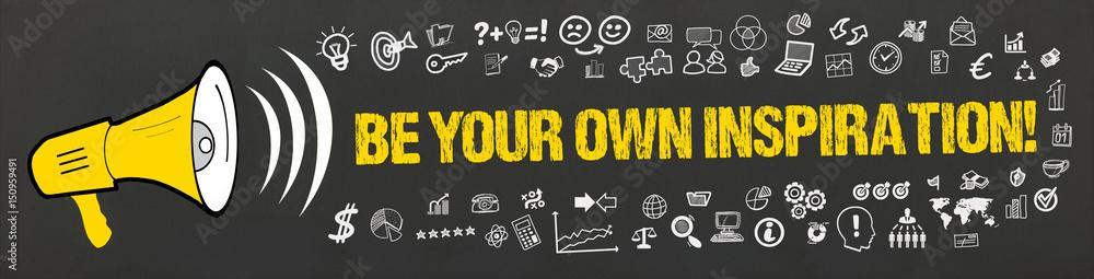 Photo  Be Your Own Inspiration! / Megafon mit Symbole