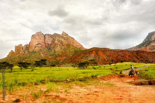 Deurstickers Toscane Landscape shot in Tigray province, Ethiopia, Africa