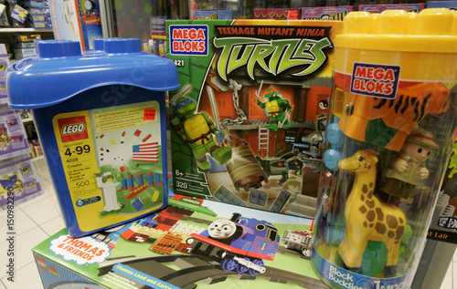 Mega Bloks And Lego Toys Are Pictured In Store Toronto