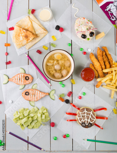 Kid's food menu set