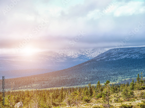 Mountain Isherim. The Puttump Plateau. North Ural Canvas Print