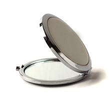 Pocket Makeup Mini Mirror Isolated On White