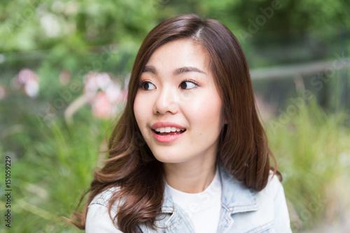 Fototapety, obrazy: Young asian lady portrait