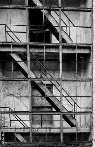 Foto auf Acrylglas Bestsellers Abandoned architecture, Whittier, Alaska.