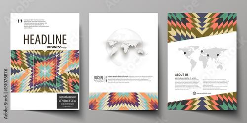 Obraz na płótnie Business templates for brochure, flyer, booklet