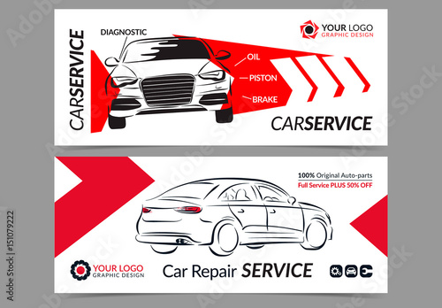 Automotive Services Banner Layouts. Buy this stock template and ...