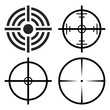 crosshair target set vector symbol icon design.