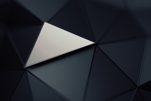 Abstract 3d Rendering Of Trian...