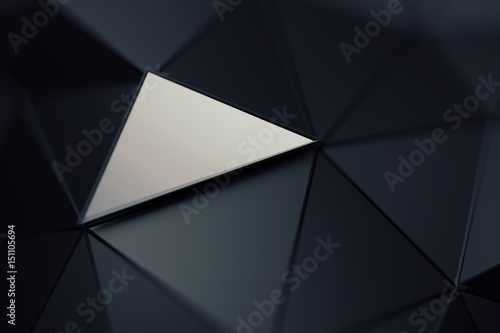 Fotografie, Obraz  Abstract 3d rendering of triangulated surface