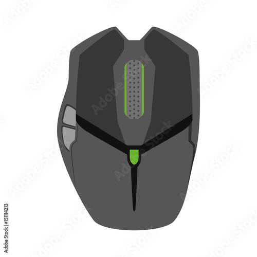 Mouse computer device icon vector illustration graphic design Poster