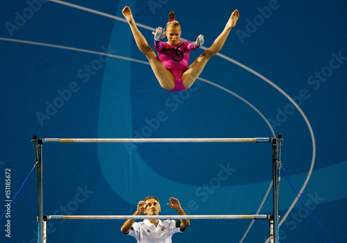 2488f00ea079 Australia's Dykes competes in uneven bars during the women's all round  final competition at Commonwealth Games