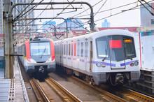 Shanghai Underground Trains. C...