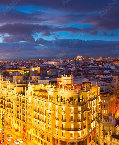 Poster Madrid Madrid at twilight, Spain