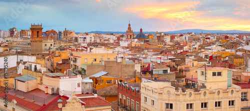 Panorama of Valencia, Spain