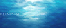Blue Aqua Water Sea Background...