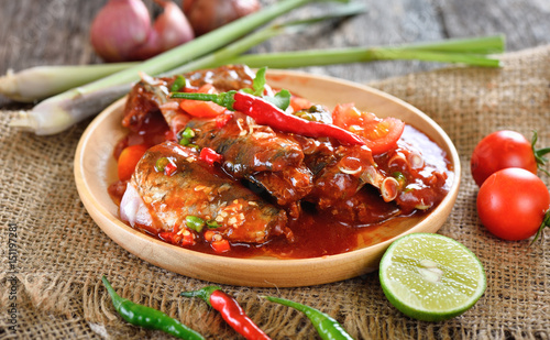 spicy sardine with herb