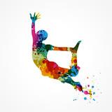 saut homme coloré