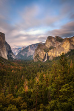 Yosemite Valley And Bridalveil...