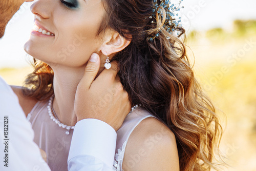 Fotografie, Obraz  Young woman in wedding dress outdoors