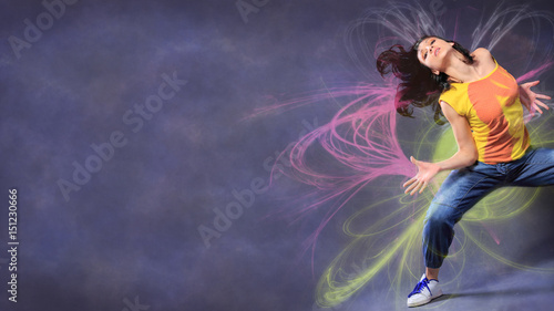 Canvas Prints Dance School dancing girl