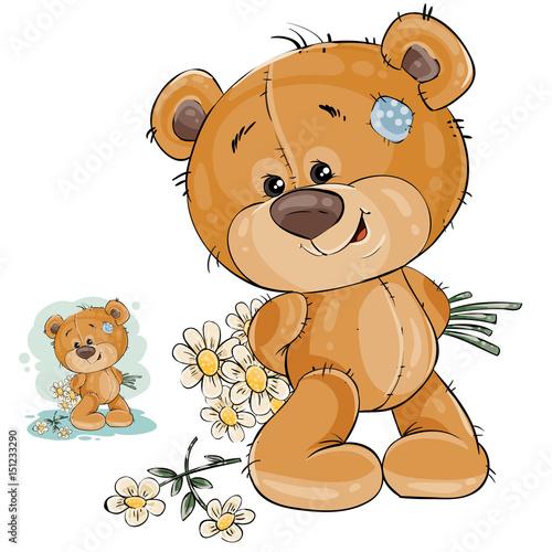 ilustracja-wektorowa-misia-chowa-sie-za-plecami-bukiet-kwiatow-szablon-dla-karty-z-pozdrowieniami-z-walentynki-dzien-kobiet-i-urodziny