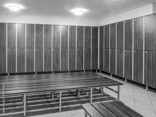Fotografie, Obraz  The row of wooden cabinets